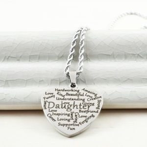 """Engraved Heart """"Daughter"""" Gift Necklace"""